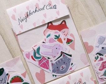 Neighborhood Cats Sticker Pack