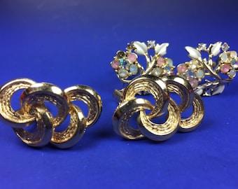 Coro Earrings 2pc
