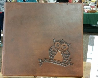 Leather 12x12 Hand Tooled scrapbook album