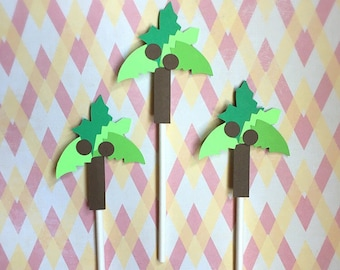 12 Chicka Chicka Boom Boom Cupcake Toppers, Chicka Chicka Boom Boom Party, Chicka Chicka Boom Boom Theme, Coconut Tree, Palm Tree