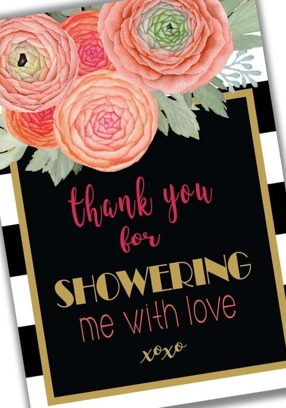 thank you for showering me with love note card instant