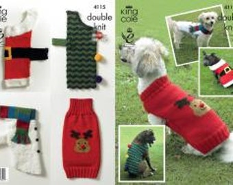 Novelty Dog Coats Knitting Pattern