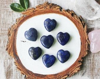 Lapis Lazuli Heart Pendant Four Beads Necklace Pendant Blue Pendant ge037