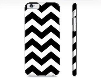 Chevron iPhone Case - Black and White Chevron Phone Case - Chevron iPhone 6 Case - Chevron iPhone Case - The Mad Case