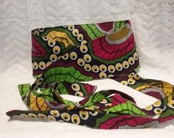 Sash belt in African fabric
