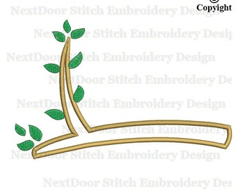 Leaves branch embroidery design, tree branch download, tr-103