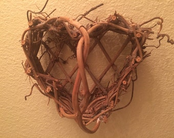 Heart Shaped Twig Basket Valentine Gift