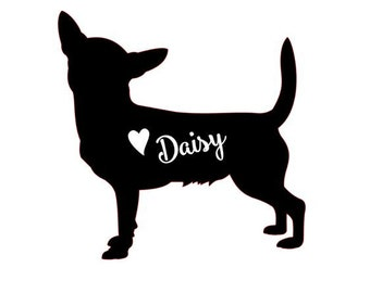 Chihuahua Decal // personalized chihuahua decal // Chihuahua car decal // dog decal // personalized chihuahua
