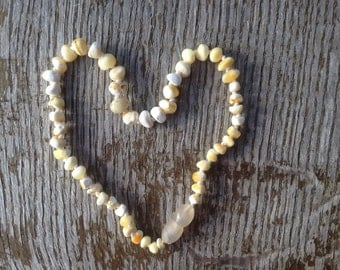 Baltic natural royal white amber teething and children necklace