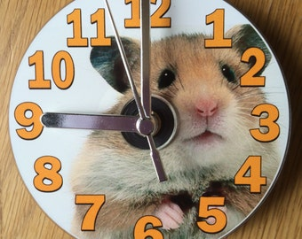 HAMSTER CD CLOCK (Can be Personalised)