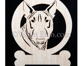 Bull Terrier Ornament-Bull Terrier Gift-Free Personalization