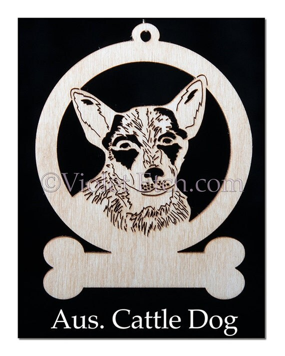 Australian Cattle Dog Ornament-Austrailian Cattle Dog Gift-Free Personalization