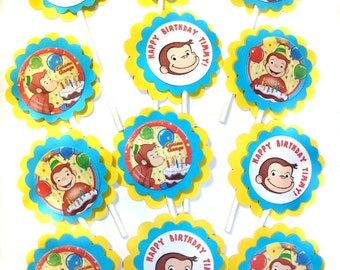 Curious George Cupcake Toppers - 1 Dozen