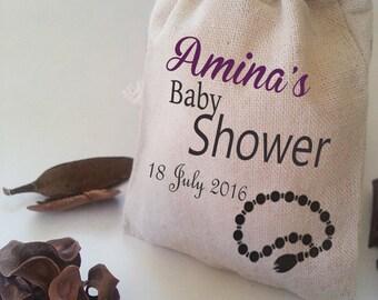 Baby Shower, muslim favor, Baby shower bag, muslim bag,  baby Gift bag, girl baptism, islam Favor Bag, Baby Shower Favor, Baptism