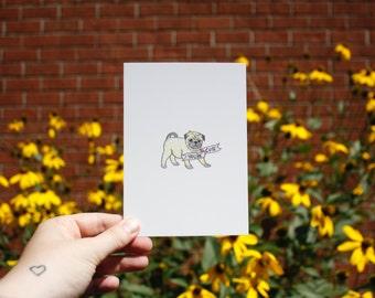 Postcard : You're cute.