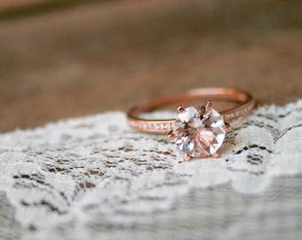 Rose Gold Morganite Engagement Ring, Rose Gold Morganite Ring, Morganite, Engagement Ring, Morganite, Rose Gold Ring, Morganite Engagement