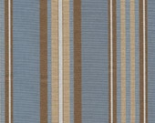 Blue Brown Stripe Fabric...