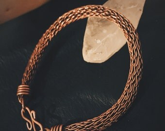 Copper Viking Knit Bracelet