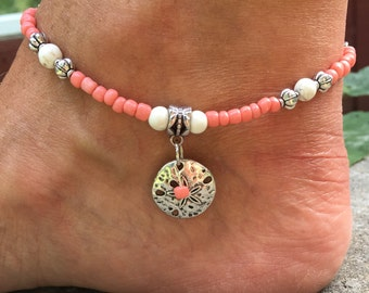 Anklet, Beach Anklet, Starfish Anklet, Sandollar Anklet, Ankle Bracelet, Ankle Jewelry, Beach Jewelry, Womans Anklet
