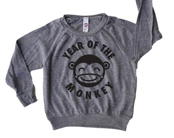 Year of The Monkey Lightweight Toddler Pullover, Chinese New Year Shirt, Kids Chinese New Year, Lunar New Year Shirt, Monkey Shirt