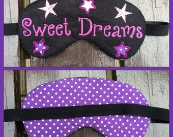 Personalised eye face mask SPA or Sleep * sleepover mask * Birthday Gift for girl * slumber party * Mother's Day Gift * Mothers Day present
