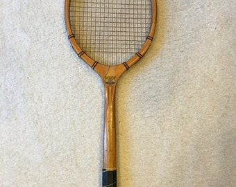 Vintage Wooden National MW Tennis Racquet