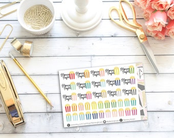 Movie Night Stickers || 37 Planner Stickers