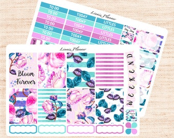 Duchess Little Weekly Kit (2 sheets matte planner sticker, fits perfect in Erin Condren Life Planner Vertical)