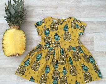"Organic baby Dress ""Pineapple"" // Toddler dress"