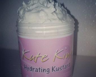6 oz. Natural Hair Moisturizer.Custard.Whipped Shea Butter.Vitamin E.Coconut oil.Essential Oils.Creamy.Kinks.Dry hair.Curls