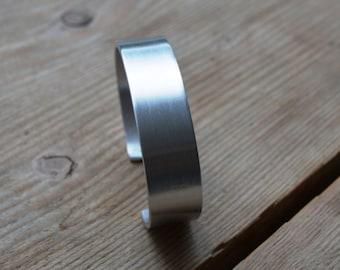 HAND MADE custom made aluminum bangle bracelet