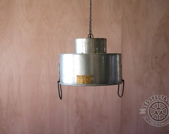 Galvanized Metal Pendant Lamp