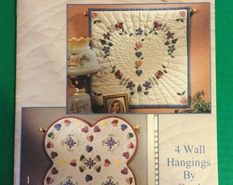 Vintage Wall Hanging Quilt Pattern Leaflet, FREE SHIPPING