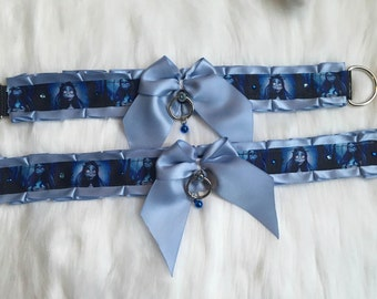 Corpse Bride - 2 Premade collars & 1 Leash