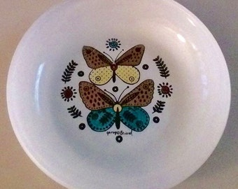 Georges Briard Butterfly Dish