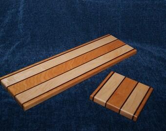 Wood Breadboard / Cheeseboard Set