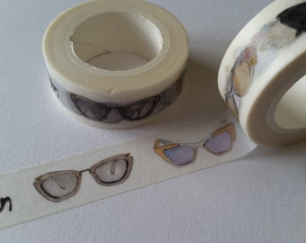 Glasses illustrated style Washi Tape