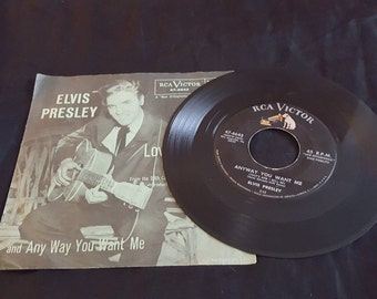 Elvis Presley Love me Tender 45 album vintage