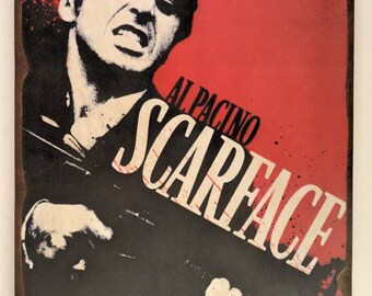 Vintage Scarface Wooden Poster Artwork