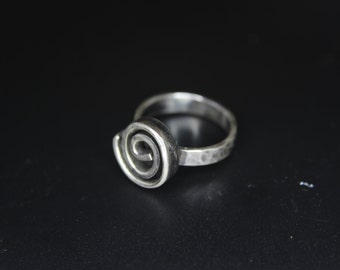 Silver Ring Spiral of life Handmade ring Sterling Silver ring