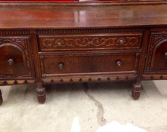 Antique buffet sideboard; ornate, majestic
