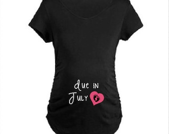 Due Date custom shirt/Pregnancy Shirt!  Multiple colours available!