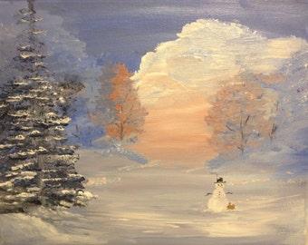 Mr. Snow in the Dawn