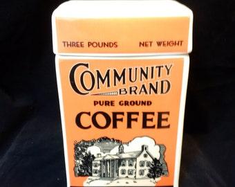Community Coffee Anniversary Ceramic Container