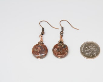 Jasper Reiki-infused Earrings with Copper Ear Wires