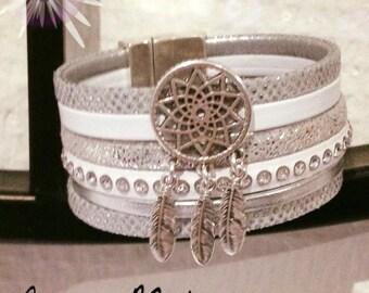 small cuff silver/white