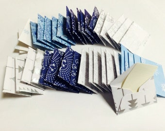 """Teeny tiny itty bitty mini winter wonderland gift tags or envelopes with tiny note cards 1x1.5"""""""
