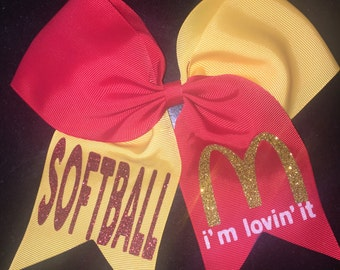 Softball Bow / Cheer Bow / Volleyball Bow / Softball... I'm Lovin It