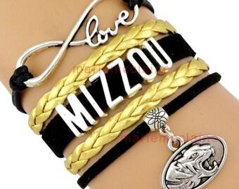 Mizzou Infinity Bracelet
