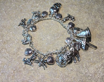Big Reduction - Witches and pumpkins and skulls oh my charm bracelet!